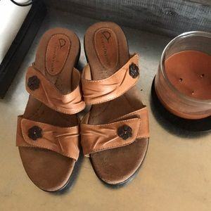 Earth origins Brown Velcro strap sandals
